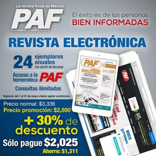 Revista PAF electrónica promoción