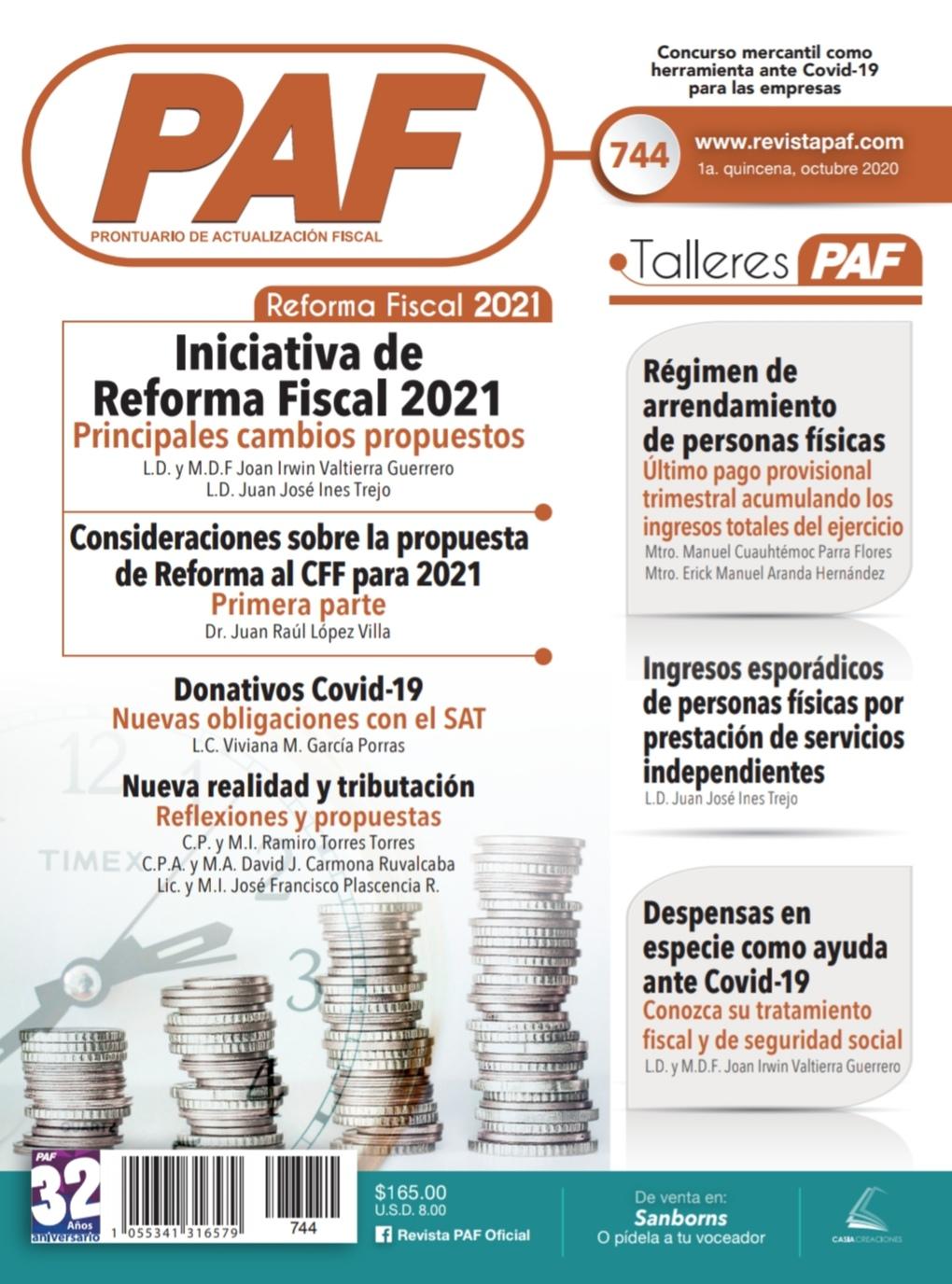 Iniciativa de Reforma Fiscal 2021