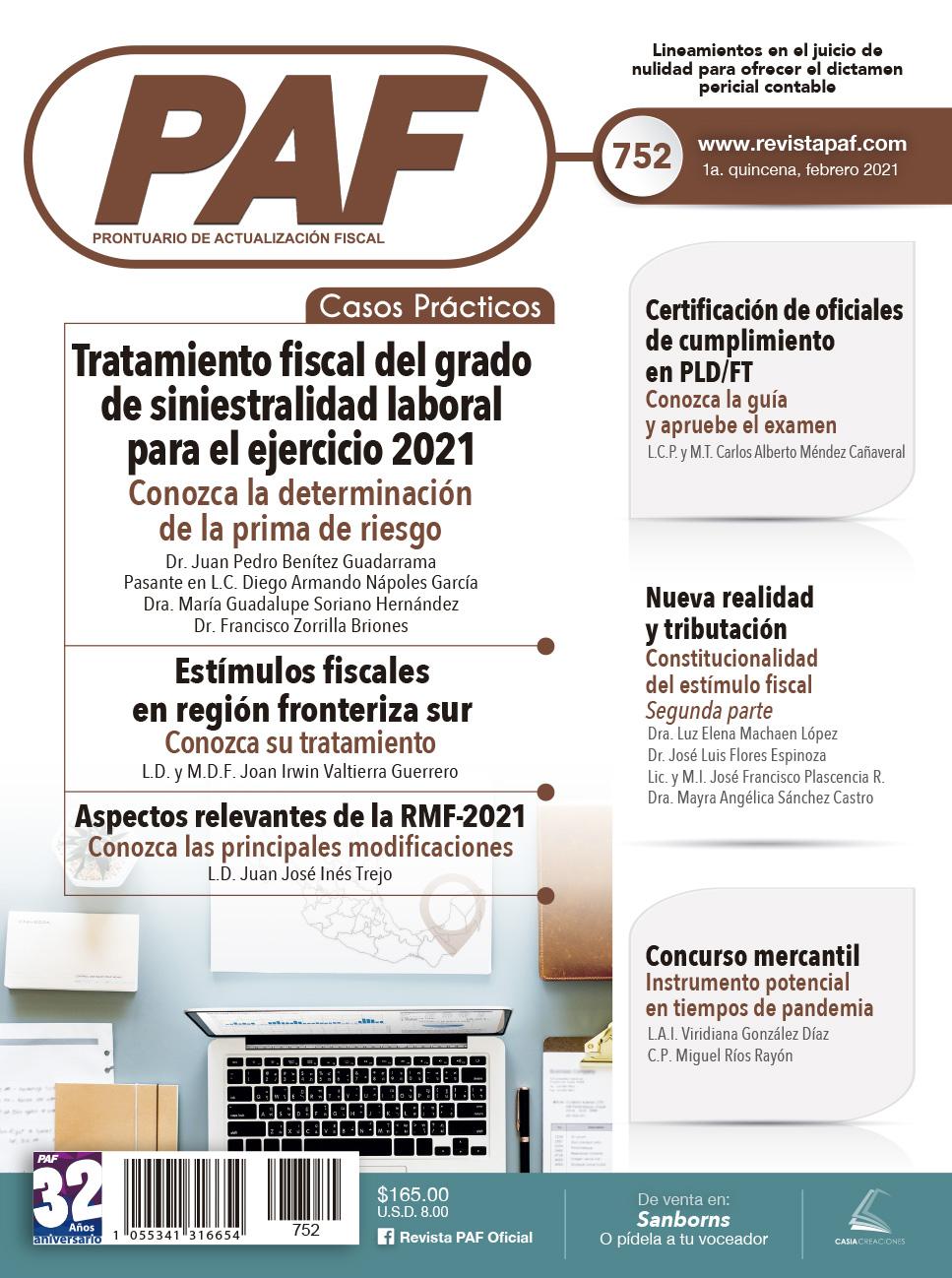 Prima de riesgo 2021 - Estímulos fiscales