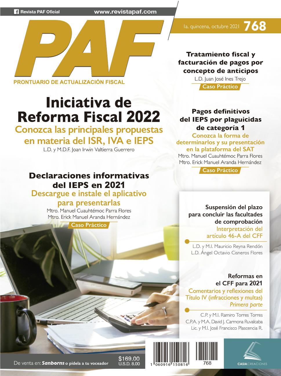 Iniciativa de reforma fiscal 2022